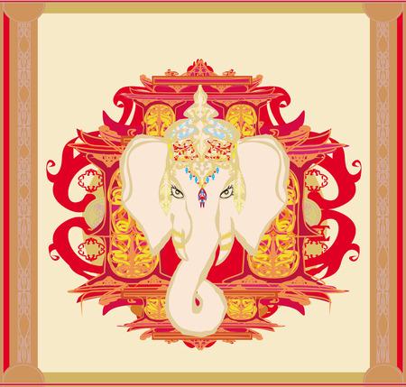 Creative illustration of Hindu Lord Ganesha  Vector