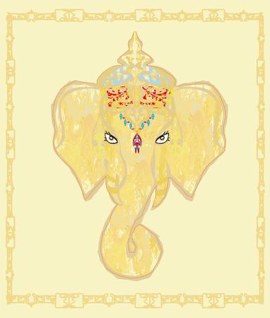 Creative illustration of Hindu Lord Ganesha Stock Vector - 26460455