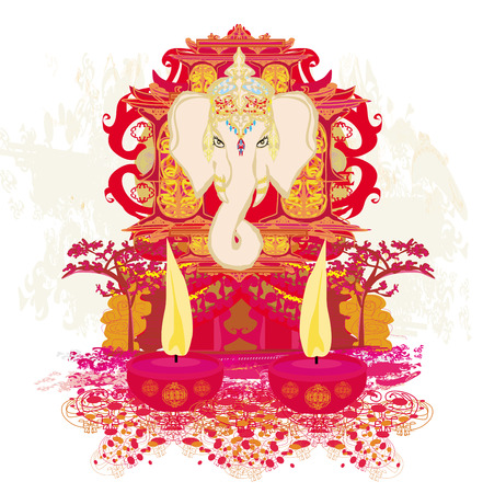 Diwali Ganesha Design Stock Vector - 26460456