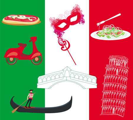 Vector set of italy icons  Vector