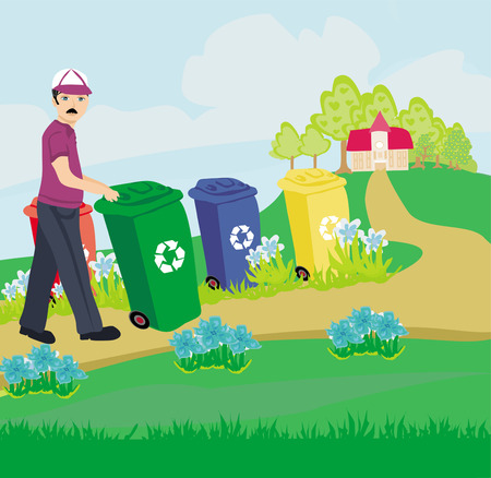 cleaning earth: segregation of garbage