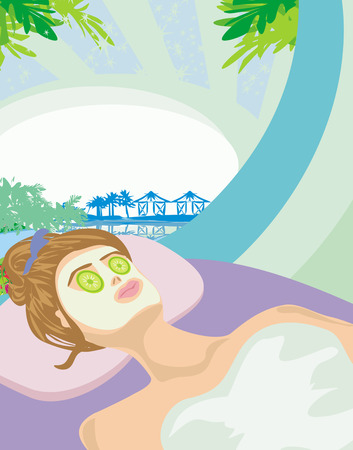 Relax in a tropical spa Vector