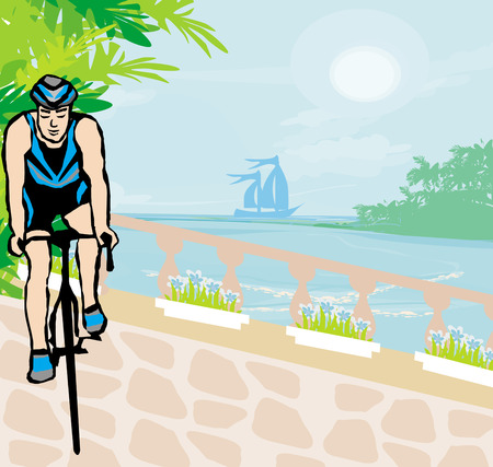 pedaling: training cyclists in the tropical vacation