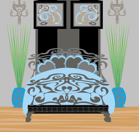 elegant bedroom  Vector