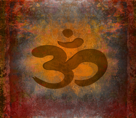 om aum symbol on a grunge texture Stock Photo - 26972083
