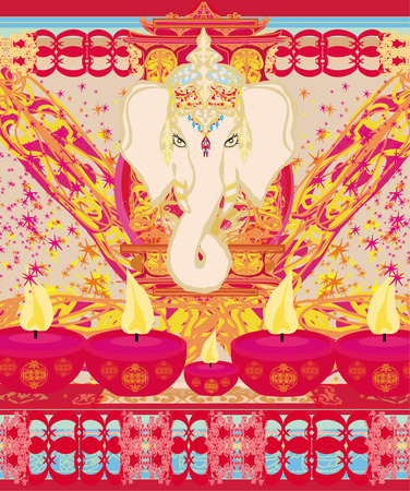 Diwali Ganesha Design  Stock Vector - 26972122