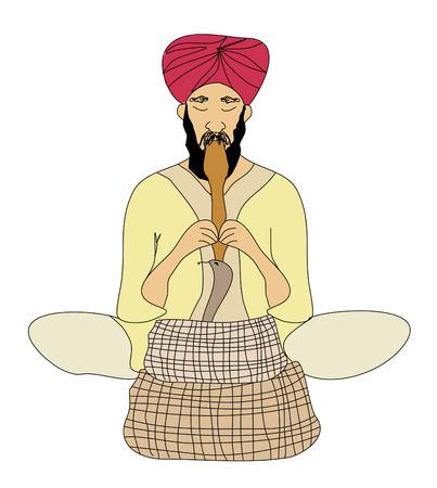 Cobra enchanter - doodle vector illustration