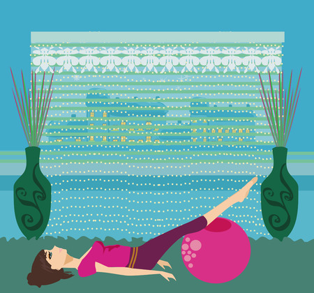 pilates at home Illustration