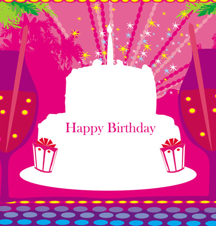 Happy Birthday - abstract greeting card  Illustration