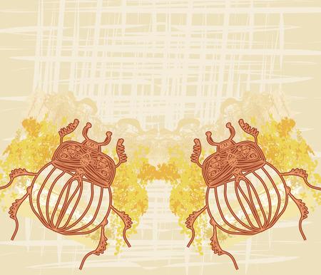scarab: Golden Scarab frame Illustration