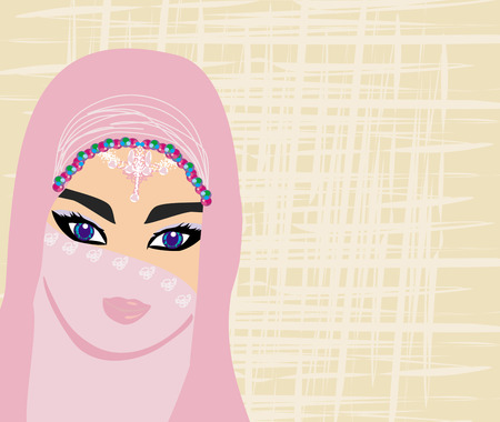 Arabian woman portrait Vector