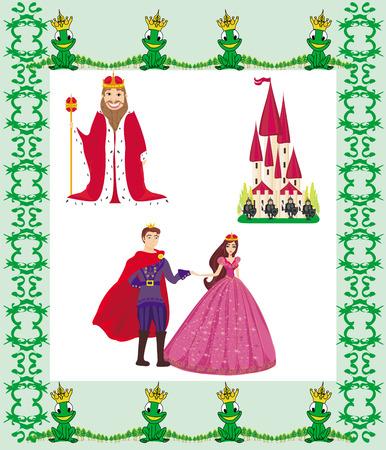 popular tale: Vector Illustration of Princess Design Elements  Illustration