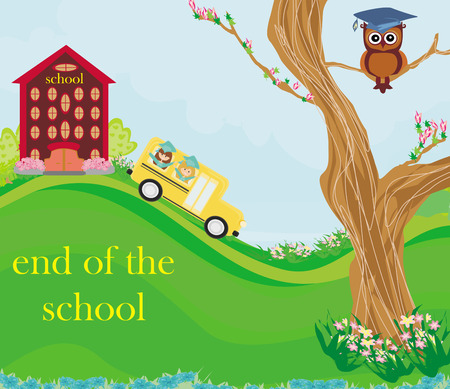the end of the school Illustration