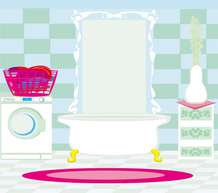 Interior of modern bathroom  Vector