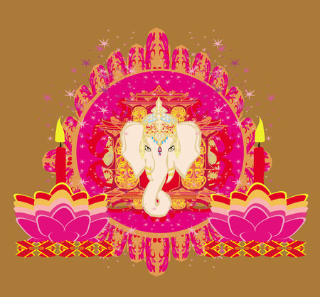 Diwali Ganesha Design Stock Vector - 28284200