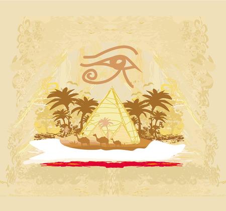vintage background  with pyramids giza Zdjęcie Seryjne - 28461288