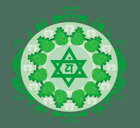 Anahata chakra vector illustration  Vector