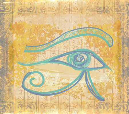 occhio di horus: Eye of Horus sfondi grunge Archivio Fotografico