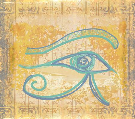 ojo de horus: ojo del horus grunge antecedentes Foto de archivo