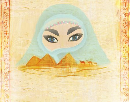 Arabian woman in the desert  photo