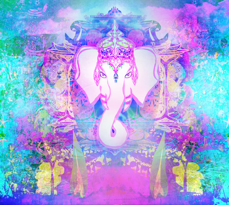 ganesha: Diwali Ganesha Design  Stock Photo