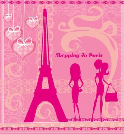 shoptalk: Shopping In Paris, Beautiful pink abstract card