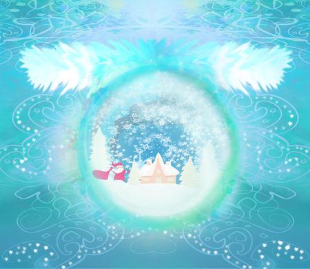 Santa Claus in a glass ball  photo