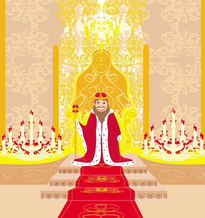 king in chamber Illustration