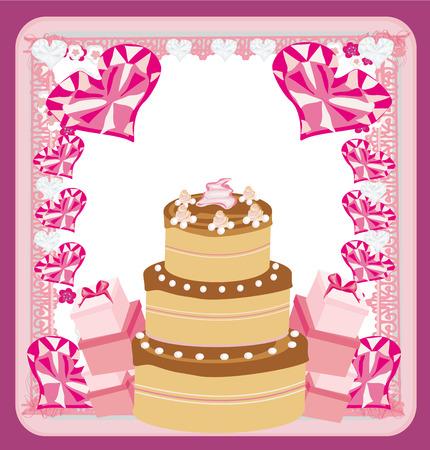 Happy Birthday - abstract greeting card  Illustration