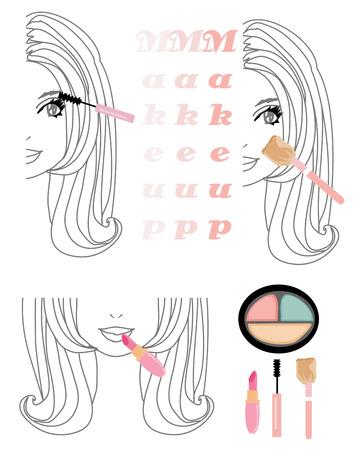 feminity: Make-up girl set