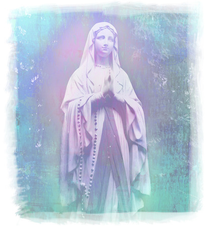 abstract portrait: Blessed Virgin Mary portrait  Stock Photo