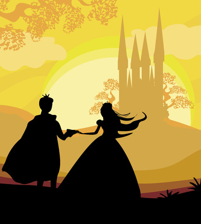 魔法の城と王子と王女