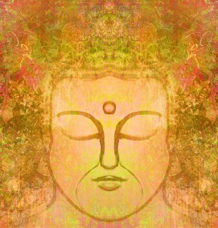 third eye: portrait of buddha