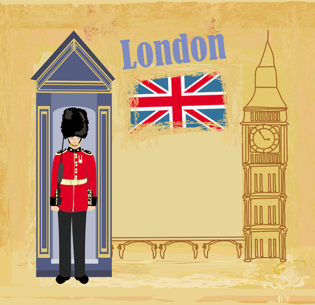 beefeater: Grunge banner with London