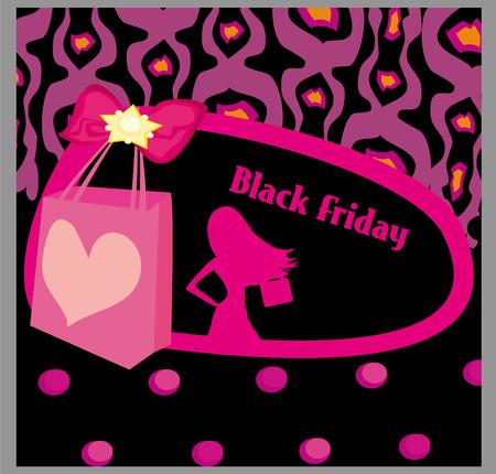 Black Friday sale card Vector