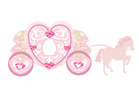 vintage carriage icon Vector