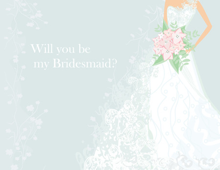 Will you be my Bridesmaid? Vetores