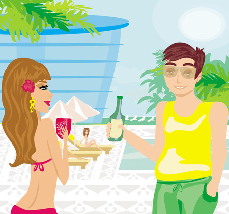 voyeur: Relax by the pool
