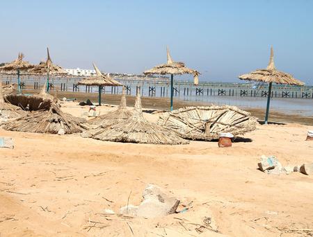 deserted: Deserted beach.Red sea Stock Photo