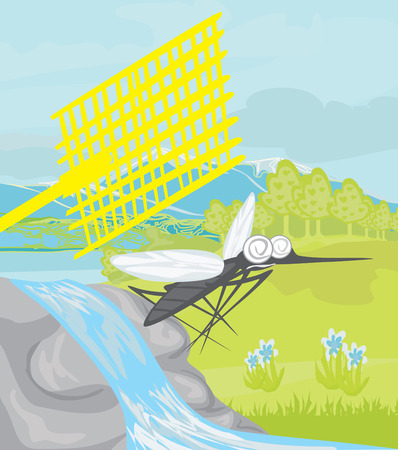 insect repellent: hunt for mosquitoes Illustration