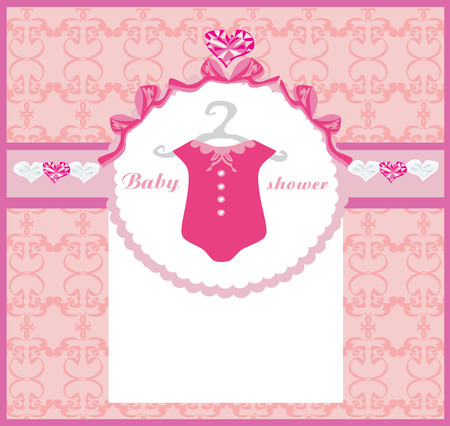 baby shower party: Baby girl shower invitation Illustration