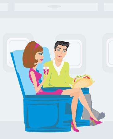 passengers: passengers in airplane