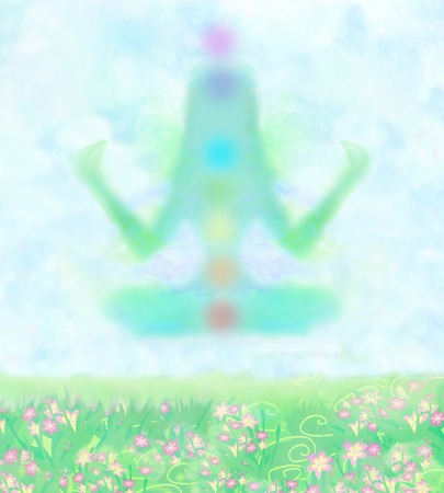 yogi aura: girl in lotus position