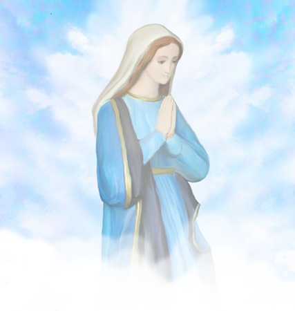 virgin mary mother of god: Blessed Virgin Mary portrait Stock Photo