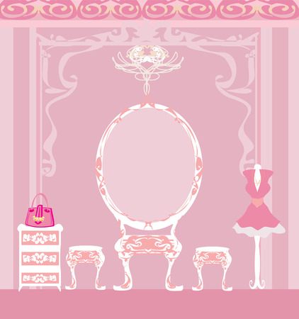 dressing: elegant style dressing room Illustration