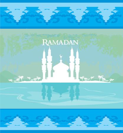 stylish ramadan kareem card Illustration