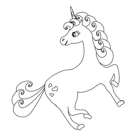 cartoon unicorn Vector