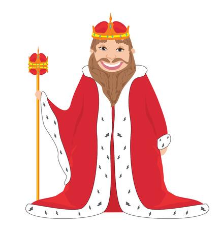 tsar: king - isolated vector drawing