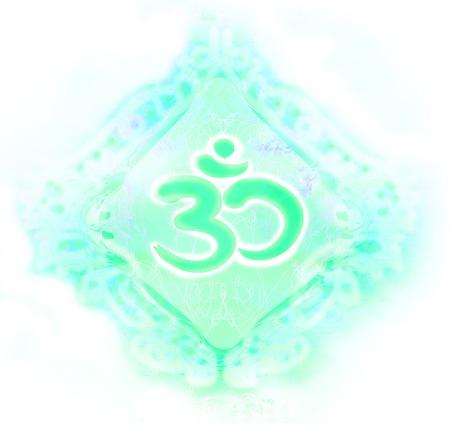 dao: om aum symbol Stock Photo