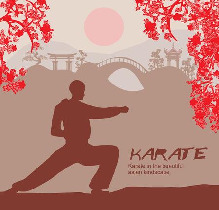 man training karate
